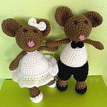 Darčeky pre svadobčanov - Svadobné myšičky - 8061900_