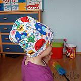 Detské čiapky - Čiapka pre deti -obojstranná - Veselá naopak - 8064359_