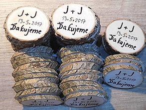 Darčeky pre svadobčanov - vintage svadba/magnetky pre svadobčanov 4 - 8065441_