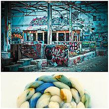 Textil - STREETART VLNA COLLECTION Česanec na pradenie, plstenie - 8062389_
