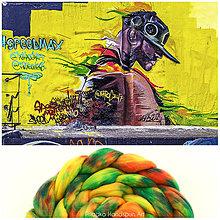 Textil - STREETART VLNA COLLECTION Česanec na pradenie, plstenie - 8062579_