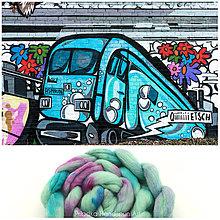 Textil - STREETART VLNA COLLECTION Česanec na pradenie, plstenie - 8062601_
