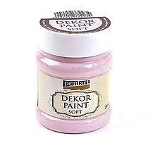 Farby-laky - Dekor Paint Soft-- viktoriánska ružová 230 ml**** - 8062761_