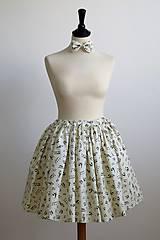 Detské oblečenie - set pre ségru a bráchu - sukňa a motýlik - hudba - 8065431_