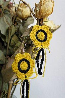 Náušnice - náušnice žlté kvetinky - 8064409_