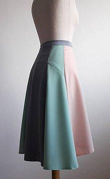 Sukne - sukňa .Pastelová trikolóra - 8064716_