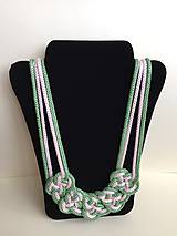 Náhrdelníky - Uzlový náhrdelník - 8063469_