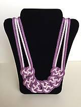 Náhrdelníky - Uzlový náhrdelník - 8063476_