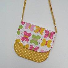 Detské tašky - Detská kabelka motýliková (žltá) - 8065359_