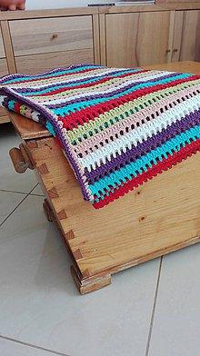 Textil - Veľká (nielen) detská pásikavá deka UNISEX - 8062274_