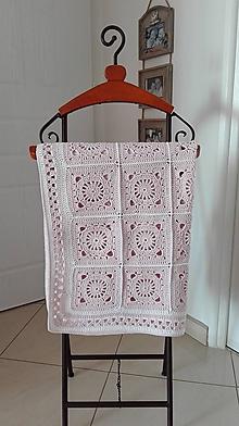 Textil - Veľká (nielen) detská háčkovaná deka- pre malú princeznú - 8062443_