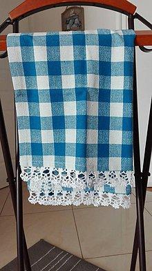 Úžitkový textil - Utierka modrá - návrat ktradícii - 8062823_