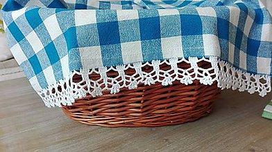 Úžitkový textil - Utierka modrá - návrat ktradícii - 8062825_