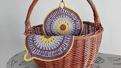 Úžitkový textil - Chňapky - kvietky jarné - 8063204_