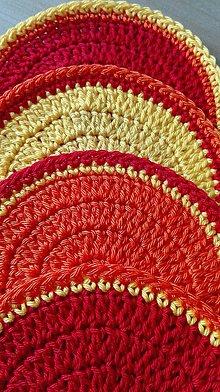 Úžitkový textil - Prestieranie - podšálky pod kafíčko_sada 4+1 - 8063624_