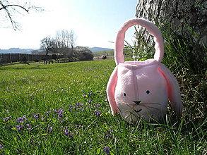 Detské doplnky - Veľkonočný zajačik - ružový - 8064248_