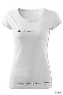 Tričká - Dámske tričko ALL THINGS - 8062566_