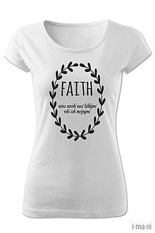 Tričká - Dámske tričko FAITH - 8063057_