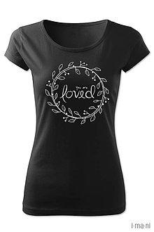 Tričká - Dámske tričko LOVED - 8064024_