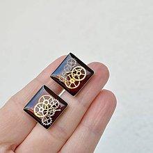 Šperky - MANŽETOVÉ KNOFLÍČKY - STEAMPUNKOVÉ,ČERVENÉ - 8065717_