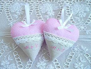 Darčeky pre svadobčanov - Svadobné srdiečka pre Lucku - 8069151_