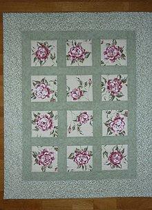 Textil - Deka detská RUŽE V TRÁVE - 8066189_
