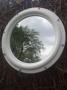 Zrkadlá - Zrkadlo Porthole biele - 8066377_