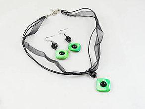 Sady šperkov - Souprava perleťová zelená - 8066136_