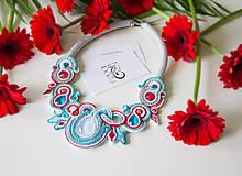 Náhrdelníky - Červeno-tyrkysový náhrdelník Ladakh - 8065897_