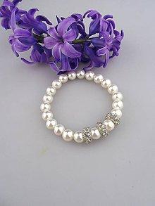 Náramky - perlový náramok - 8066463_