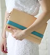 Kabelky - Listová kabelka CLUTCH STRIPE BLUE - 8065807_
