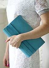 Kabelky - SALE-20% Listová kabelka CLUTCH STRIPE BLUE LAGUNA PC: 85,- €  - 8066457_