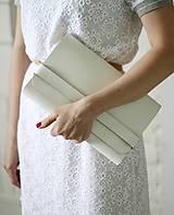 Kabelky - SALE - 20% Listová kabelka CLUTCH STRIPE WHITE PC: 85,-€ - 8067865_