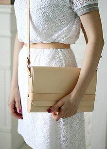 Kabelky - Listová kabelka na rameno CLUTCH STRIPE NATURAL - 8066277_