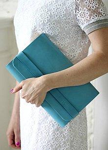Kabelky - Listová kabelka CLUTCH STRIPE BLUE LAGUNA - 8066457_