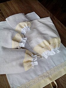 Úžitkový textil - Ľanová sada - 8066786_