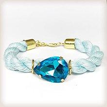 Náramky - Mandľové očko (aquamarine) - 8068133_