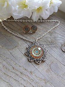 Sady šperkov - Orientálne oranžovohnedé - 8069397_