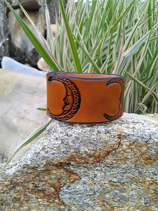 Dámsky kožený náramok 3cm široký