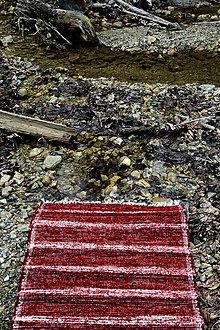 Úžitkový textil - červený koberec - 8066585_
