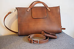 Veľké tašky - Pánska kožená kabela - 8065792_