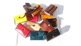 Peňaženky - Malá kožená peňaženka na drobné - 8066030_