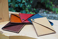 Peňaženky - Kožený obal na vizitky, kreditky - 8066069_