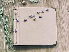 Papiernictvo - Fotoalbum klasický papierový obal so štruktúrou plátna (béžový) - 8066082_