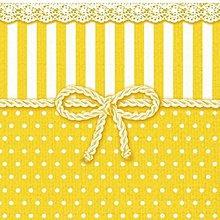 Papier - mašľa v žltom  - 8069023_