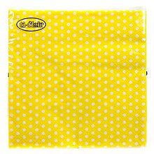 Papier - guličky na žltom - 8069077_
