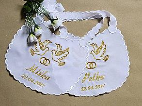 Iné doplnky - svadba -podbradníky - 8068884_