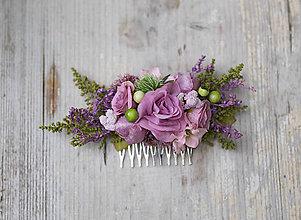 Ozdoby do vlasov - Výpredaj z 20 € Kvetinový hrebienok
