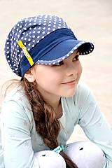- Letná šiltovka s menom Blue heart ♥ - 8068750_