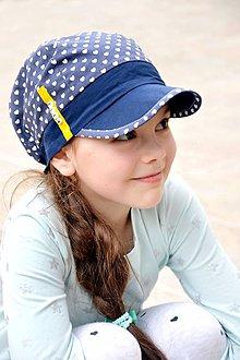Detské čiapky - Letná šiltovka s menom Blue heart ♥ - 8068750_